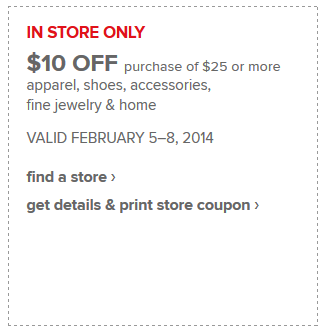 $10/$25 JCPenney Coupon